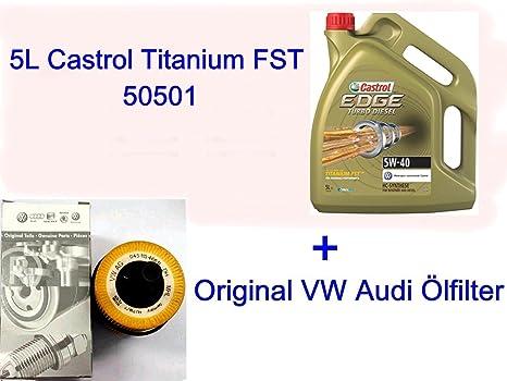 5L Aceite Castrol Titanium 50501 Volkswagen Golf Plus V, Vi, Passat 3 C CC