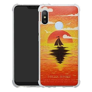 HHDY Xiaomi Mi A2 Lite Funda, Pintura Ultrafina Suave TPU ...