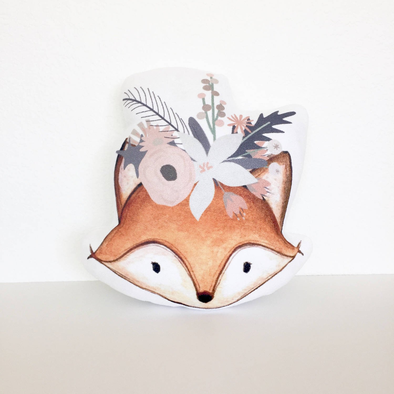 Bohemian Fox Pillow with Insert Woodland Nursery Fox Cushion Hippie Fox Girl Gift Kid Gift Woodland Creature Baby Girl Gift Nursery Pillow FiuFgyt