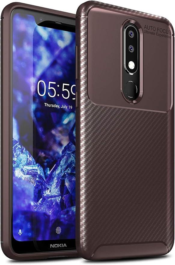 Yocktec Nokia 5.1 Plus 2018 Funda, diseño Ultra Delgado de Fibra ...