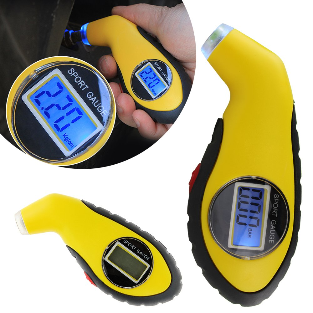 Digital Tire Tyre Air Pressure Gauge Tester Tool for Auto Car Motorcycle LCD Display COMLZD