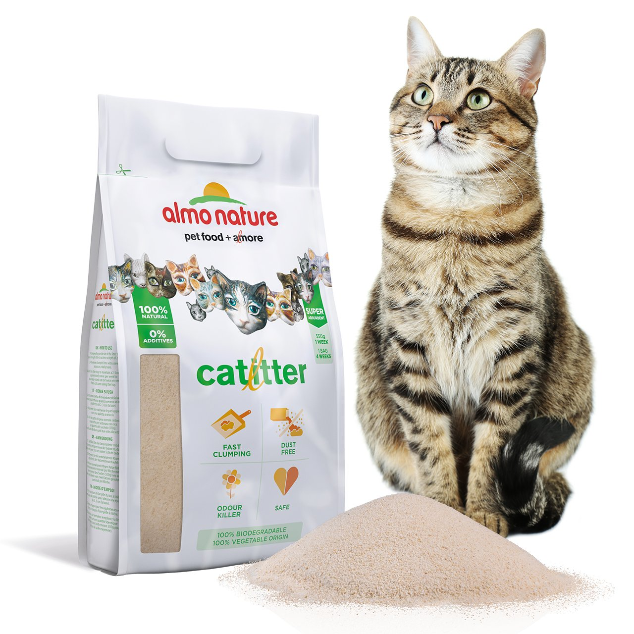 Almo nature ALM76 Cat Litter Arena Aglomerante para Gatos, 2.27 kg: Amazon.es: Productos para mascotas