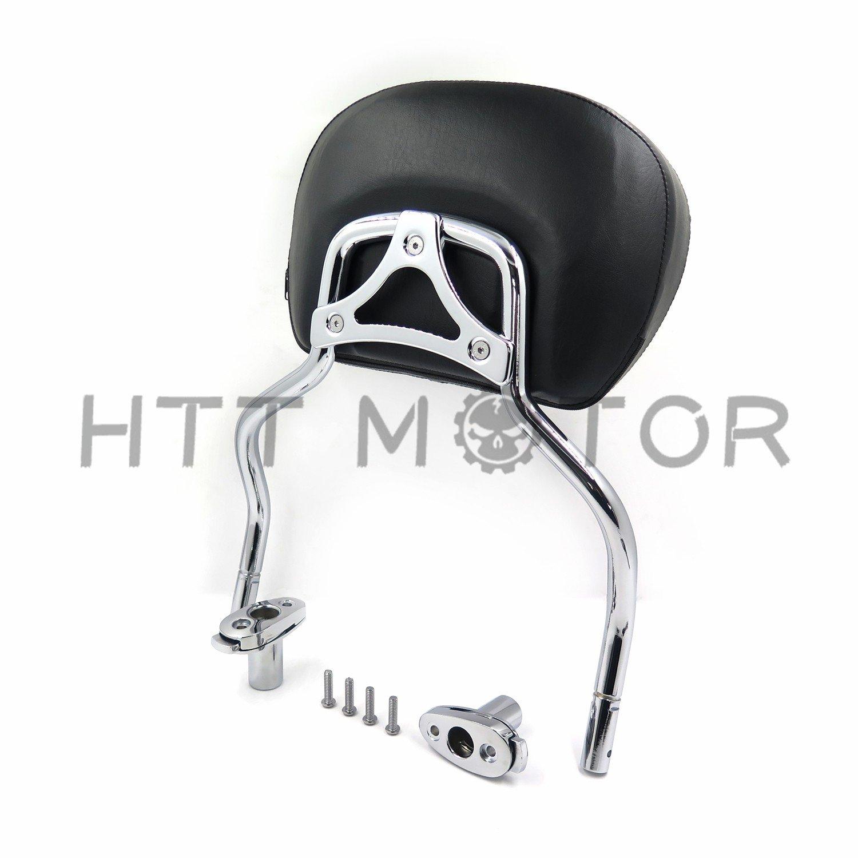 HTTMT Chrome Detachable SissyBar Pad & Backrest For Harley FLRT Freewheeler 2015-2017