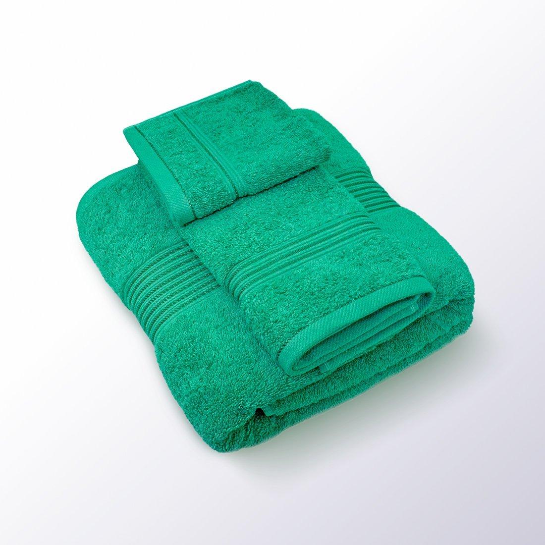 Swiss Republic 100% Cotton Fade Resistant Large towel set, 1 Extra Large Bath towel (Bath Sheet) 35x70, 1 Hand Towel 16x28, 1 Face Towel 12x12, Machine Washable, Soft, Absorbent