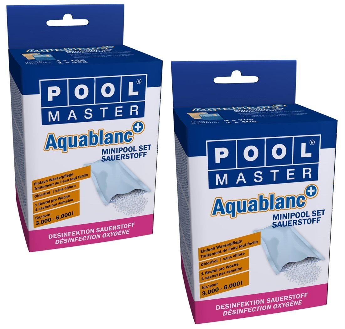 Swimming Pool Cleaner Mini Pool Set Aqua Blanc 2 x 320g mediPOOL