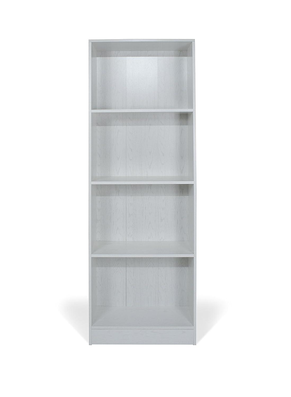 Legno TrendyItalia 12978 Libreria Rovere Sbiancato 60 x 24 x 170 cm Bianco