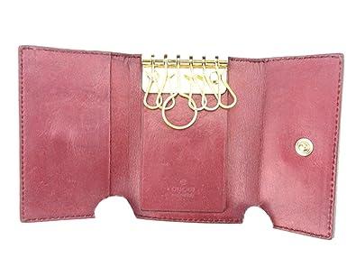 fb8ced912ede Amazon | (グッチ) Gucci キーケース 6連キーケース ブラウン ゴールド パープル ラブリーハート グッチシマ レディース 中古  T6372 | キーケース