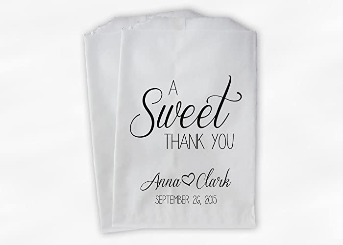 Amazon A Sweet Thank You Wedding Favor Bags For Candy Buffet In