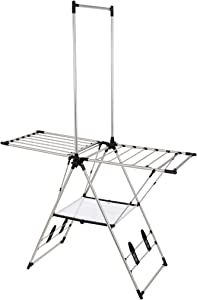 GreenWay GFR2019SS-D Stainless Steel Indoor/Outdoor Large Drying Center with Mesh Shelf