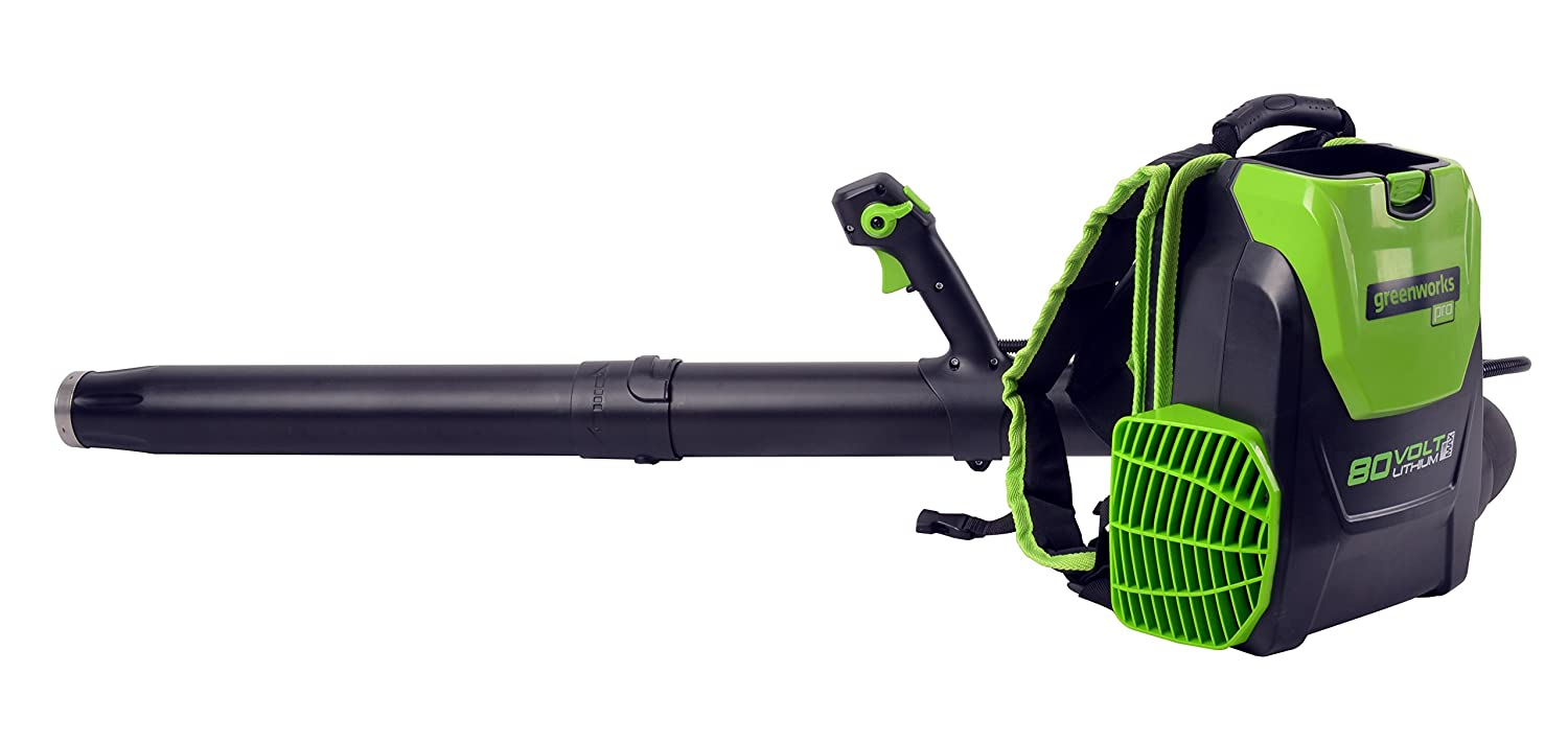 Greenworks 80V 145MPH – 580CFM Cordless Backpack Leaf Blower, Battery and Charger Not Included BPB80L00
