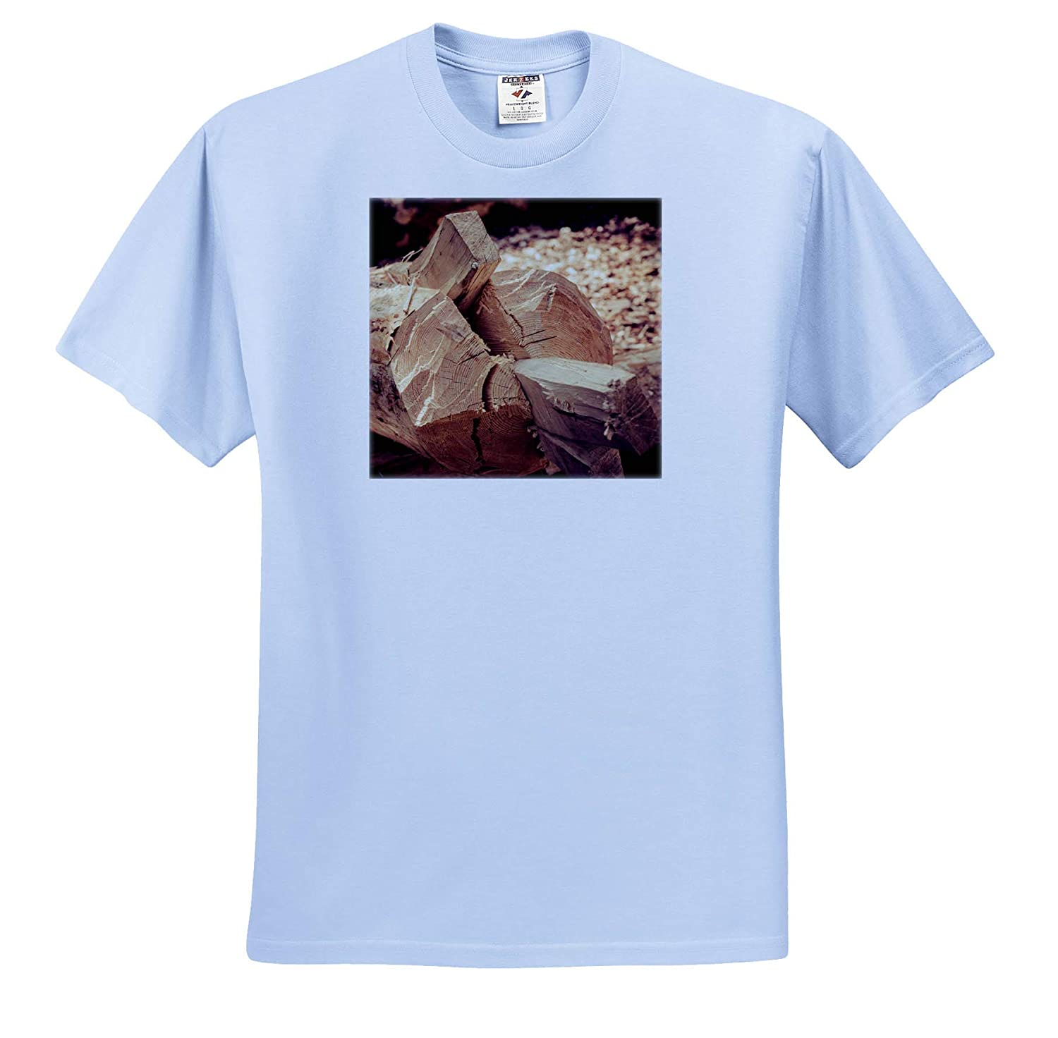 Objects Wood T-Shirts Stylized Photo 3dRose Alexis Photography Ancient Technology to Split a Wooden Log