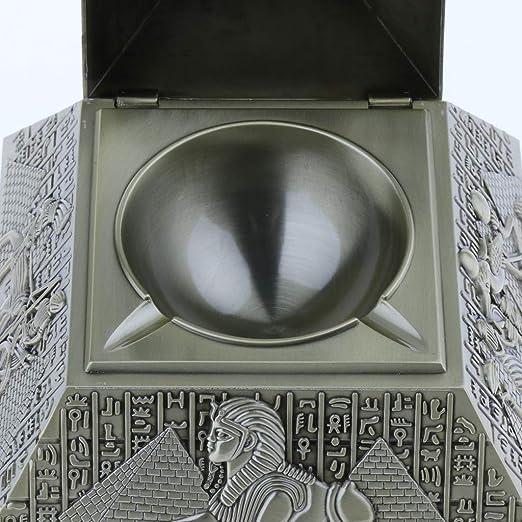 Bronce Sharplace Cenicero Cigarro Pir/ámide a Prueba de Viento con Tapa de Barra de Regalo