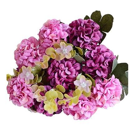 Amazon Autulet 10 Heads Silk Purple Chrysanthemum Flowers