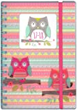 Tallon A5 Day Per Page Owls Academic Mid Year Student Diary 2017-2018