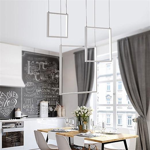 DIY moderno LED lámpara colgante luces minimalismo para mesa ...