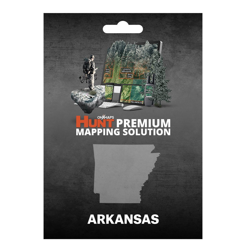 onXmaps HUNT Arkansas: Digital Hunting Map For Garmin GPS + Premium Membership For Smartphone and Computer - Color Coded Land Ownership - 24k Topo - Hunting Specific Data