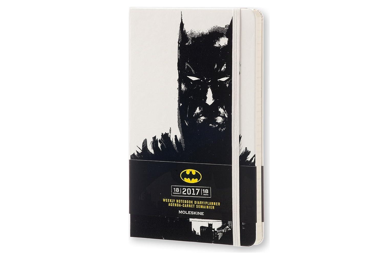 Moleskine DBA18WN3Y17 - Agenda semanal 18 meses, diseño Batman, edición limitada, L 13 x 21, color blanco