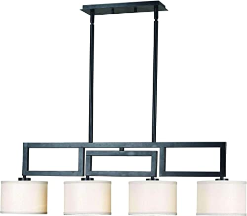 Kenroy Home Casual 4 Light Island Light, 56 Inch Height, 38 Inch Width, 17.5 Inch Ext with Oil Rubbed Bronze Finish