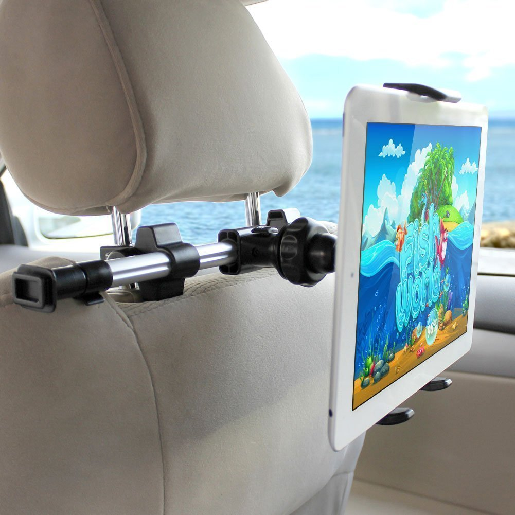 iKross Tablet Mount Holder Universal Car Backseat Headrest Extendable Mount Holder For Apple iPad Pro 10.5/9.7, iPad Air/Mini, Samsung Galaxy Tab, Nintendo Switch, and 7-10.2-inch Tablet - Black by iKross (Image #7)