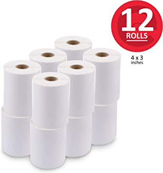 20 Rolls 4x2 Direct Thermal Barcode Shipping Labels for Desktop Zebra 2844 ZP450