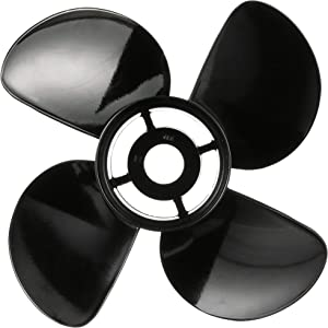 Quicksilver Nemesis 4-Blade Aluminum Propeller - Right Hand Rotation, Black Finish