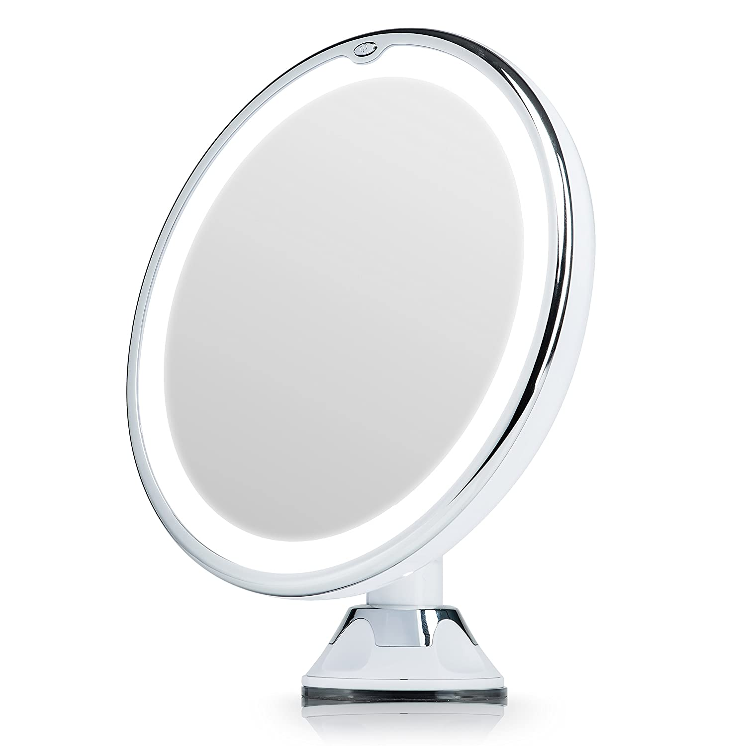 Fancii Lighted Magnifying Makeup Mirror 7X with Natural LED Lights, Locking Suction Cup, Cordless Portable Illuminated Vanity Mirror for Bathroom and Travel