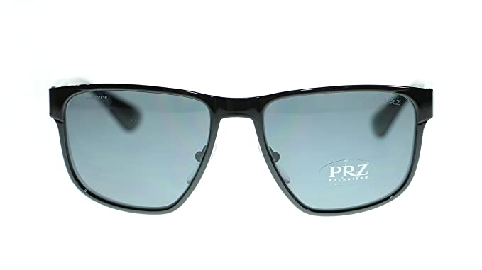 f8c9f6b66d059 Prada Square Men Sunglasses PR55SS 7AX5Z1 Black Polar Grey Gradient ...