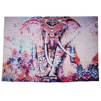 fenteer indio Elefante Mandala Tapiz pared adornos pared Yoga Toalla Alfombra: Amazon.es: Hogar