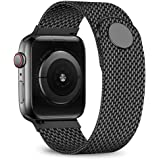 jwacct Compatible for Apple Watch Band 38mm 40mm 42mm 44mm, Adjustable Stainless Steel Mesh Wristband Sport Loop for iWatch Series 5 4 3 2 1