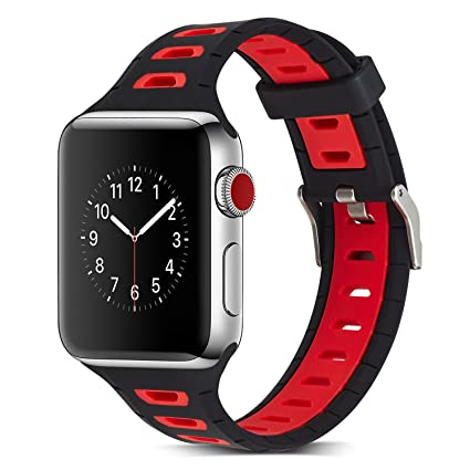 8af8f9b9f16 Kanteband 38 42 40 44 mm Apple Watch Soft Silicone Replacement Band - 2018  Outdoor Sport Fitness Breathable Edition Rubber Wrist Strap for New iWatch  Series ...