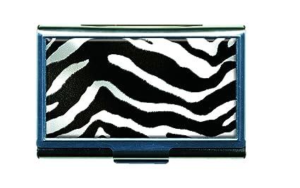 Amazon zebra animal print business card credit card metal zebra animal print business card credit card metal case holder colourmoves