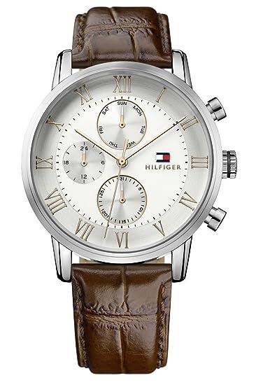 4e45d760706f Tommy Hilfiger Reloj Multiesfera para Hombre de Cuarzo con Correa en ...