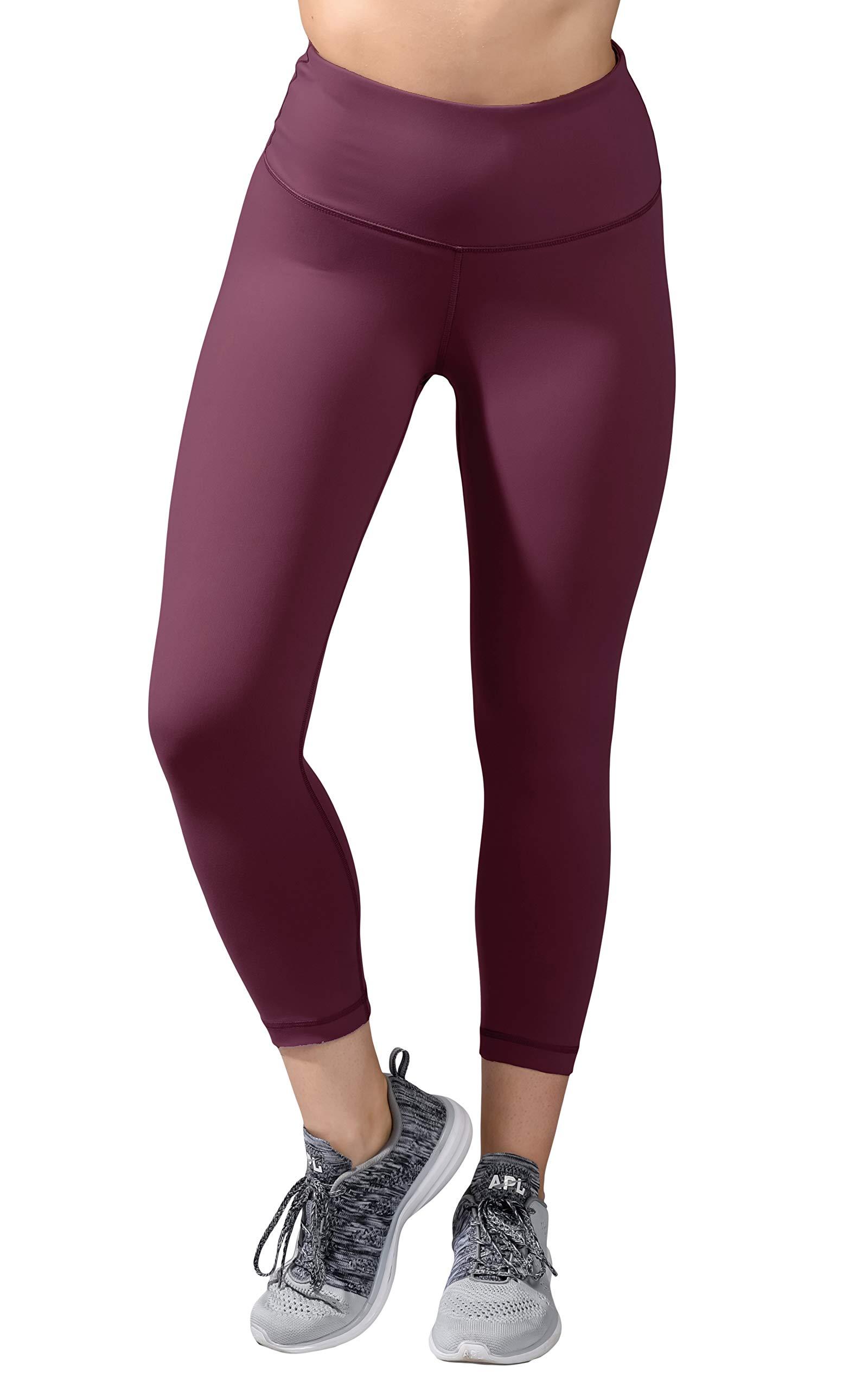 90 Degree By Reflex - High Waist Tummy Control Shapewear - Power Flex Capri - Prune - XS by 90 Degree By Reflex