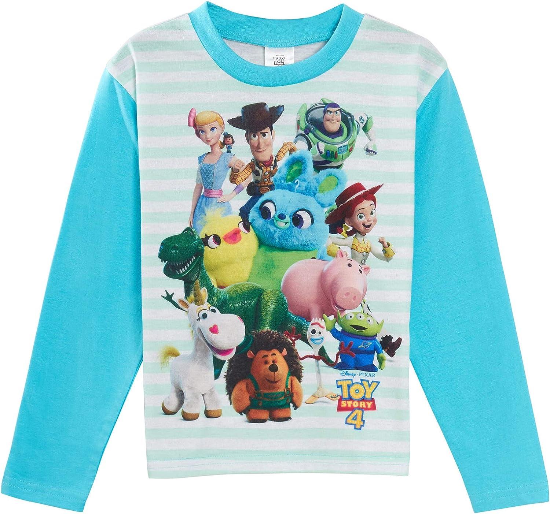 Pigiama per Bambini Lunghezza Intera Motivo: Buzz Woody Forky Pjs Bianco 4-5 Anni Disney Toy Story 4