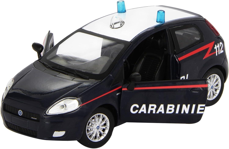 MODELLINO DIE CAST MACCHINA FIAT GRANDE PUNTO CARABINIERI SCALA 1:24 METALLO