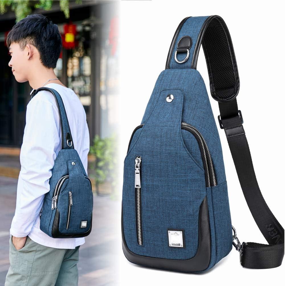 Sling Bag Crossbody Sling Backpack Travel Hiking Chest Bag Daypack /…