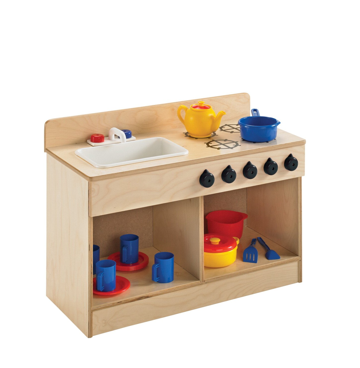 Childcraft 1491196 Toddler Sink and Stove Combo, 21.5'' Height, 13.38'' Width, 29.5'' Length, Natural Wood by Childcraft (Image #6)