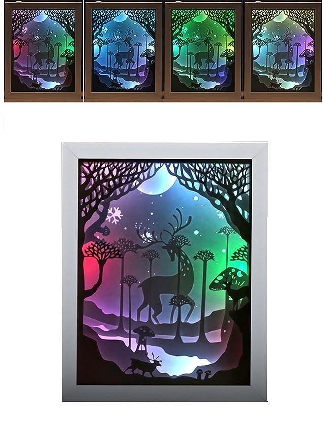 3D Lámpara Win-Y USB LED lámpara de tabla ligera Luces Decorativas Regalo Perfecto para Hombre Mujer niños de San Valentín, Navidad, Cumpleaños (Reno): ...