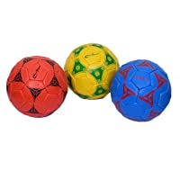 Buy 2 Blue & Red PRO WORLD Sports Recreational High Quality Synthetic Rubber Size No.3 Fun,Training,Practice Regualr Fottballs Get 1 Free Yellow Football Complete Hand Stitch Ranger Street Best Quality Ideal for All Age Groups Durable Water Resistant Butyl bladder