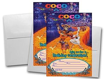 12 Coco Tarjetas De Invitación De Cumpleaños 12 Blanco