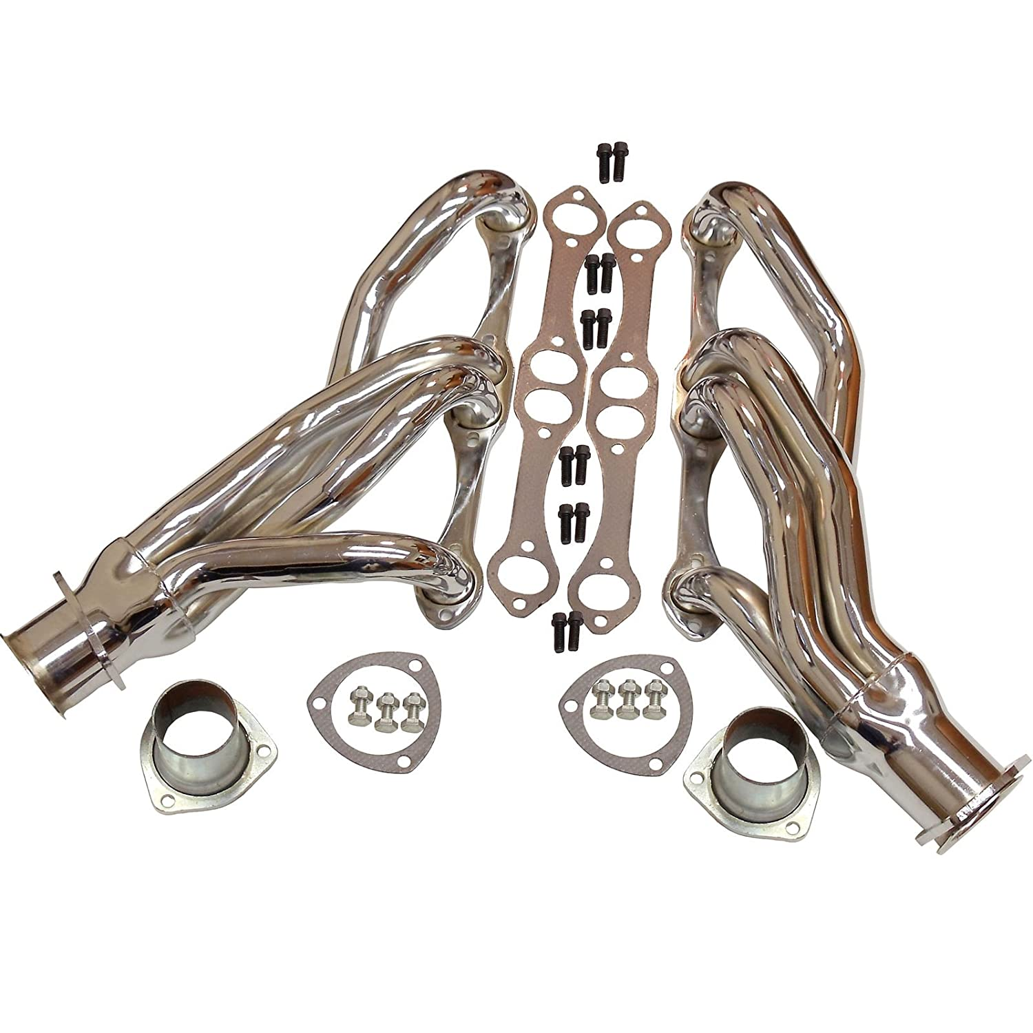 Ceramic Coated CLIPSTER HEADERS FOR SBC CHEVY V8 A/F/G BODY ROD 262 305 327 350 DEMOTOR