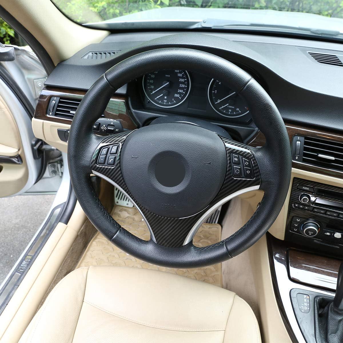 ABS Carbon Fiber Style Steering wheel sequins Frame Trim For BMW 3 Series E87 1 Series 3//5 Door Hatchback Coupe E92 E93 E90 2004-2012