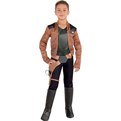 Costumes USA Solo: A Star Wars Story Han Solo Costume for Boys, Includes a Jumpsuit, a Belt, and Boot Covers: Clothing [5Bkhe1802335]