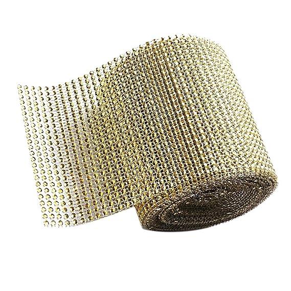Rot DIY Kleidung Schuhe Hut und andere Handwerk P Prettyia 24 Reihe Strassband Strass Borte Diamant Band Kristall Band