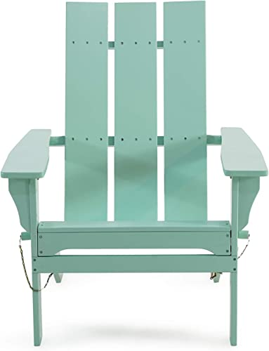 Christopher Knight Home 312648 Aberdeen Outdoor Contemporary Acacia Wood Foldable Adirondack Chair, Light Mint