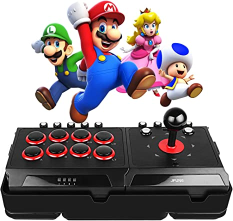 JFUNE Real Arcade Pro Fight Stick for Nintendo Switch/PS4/PS3/Android/PC, E-Sports Game Rocker Street Arcade Fighter: Amazon.es: Videojuegos