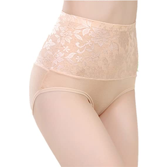 MEISHINE® Elegante Mujer Cintura Alta Braguita – Modal Hipster Briefs Culottes Ropa Interior de Encaje