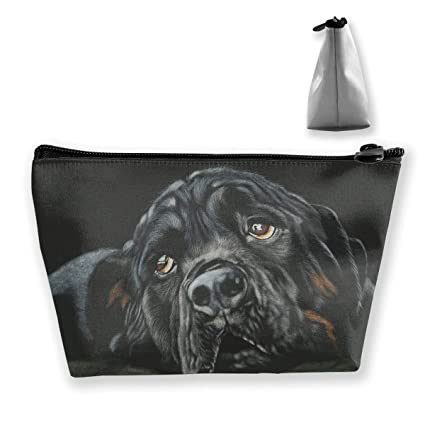 269f28fbb021 Amazon.com: Homlife Black Rottweiler Breed Dog Cosmetic Tote Bag ...