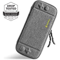 Ultra Slim Hard Case Compatible with Nintendo Switch, tomtoc Original Patent Portable Hardshell Travel Carrying Case, fit Switch Console Cover, 8 Game Cartridges Accessory, Gray