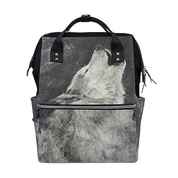 BENNIGIRY Canada Wolfdog - Mochila para pañales de viaje ...